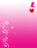 Valentine day background. Abstract vector illustration with hearts and dove Stock Images