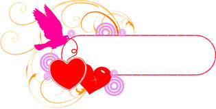 Valentine day background. Abstract vector illustration for design Stock Images