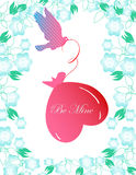 Valentine day background. Abstract art vector illustration for design Stock Photo