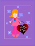 Valentine day background. Valentine card/vector illustration for design Stock Images