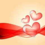 Valentine day background. Beautiful valentine day heart  design art Royalty Free Stock Photos