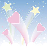 Valentine day background. With  hearts and stars Stock Image