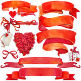 Valentine day background and elements for decoration Stock Image