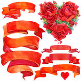 Valentine day background and elements for decoration Stock Photos