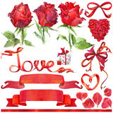Valentine day background and elements for decoration Stock Photo