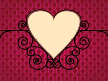 Valentine Day Background with hearts Stock Images