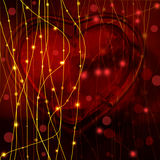 Valentine day background with hearts on black Royalty Free Stock Image