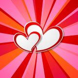 Valentine Day background with hearts. Vector romance design Stock Image