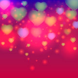 Valentine day background with light heart. Vector illustration Stock Images