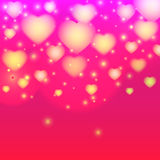 Valentine day background with light heart. Vector illustration Royalty Free Stock Photo