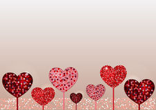 Valentine day background. Mosaic and glitter Stock Image