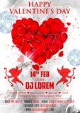 Valentine Day Background pour la bannière de partie Images libres de droits