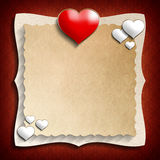 Valentine Day background template Royalty Free Stock Images