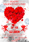 Valentine Day Background voor partijbanner royalty-vrije illustratie