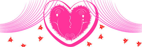 Valentine day background/web header. Abstract vector illustration for design Royalty Free Stock Image