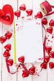 Valentine day baking concept Stock Image