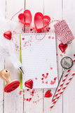 Valentine day baking concept with kitchen tools Stock Image