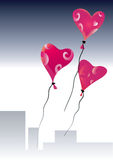 Valentine day balloons. Stock Photos