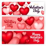 Valentine Day Banners heureux Illustration Libre de Droits