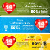 Valentine day banners set Royalty Free Stock Photography