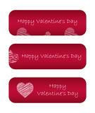 Valentine day banners Stock Photo