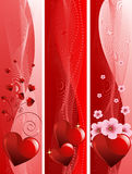 Valentine Day banners Stock Images