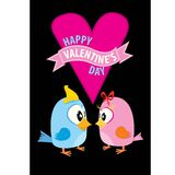 Valentine day beautiful card with couple birds Stock Photos