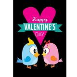 Valentine day beautiful card with couple birds Stock Photo
