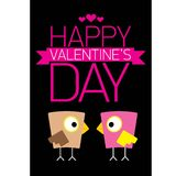Valentine day beautiful card with couple birds Royalty Free Stock Photography