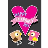 Valentine day beautiful card with couple birds Stock Image
