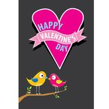Valentine day beautiful card with couple birds Stock Photography