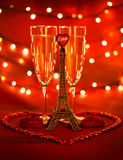 Valentine day beverage Royalty Free Stock Images
