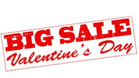 Valentine day big sale. Rubber stamp with text Valentine day big sale inside,  illustration Stock Images