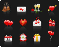 Valentine Day black background Stock Photography
