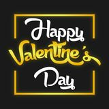 Valentine Day Black et image d'or de vecteur Photos libres de droits