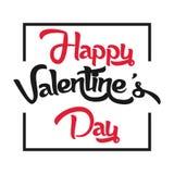 Valentine Day Black et image rouge de vecteur Photo stock