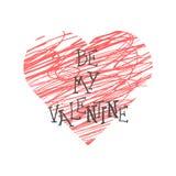 Valentine Day bokstäver också vektor för coreldrawillustration Royaltyfria Bilder