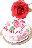Valentine day cake Stock Images