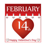 Valentine day calendar. Royalty Free Stock Photos