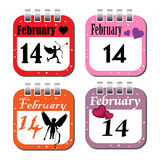 Valentine Day calendar sheets Stock Photos