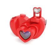 Valentine Day Camera. Camera Valentine day creative concept: unusual digital photo camera in the form of red heart with distinctive design as symbol of capture Royalty Free Stock Photos