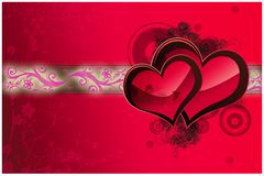 Valentine day card. An illustration for a Valentine day card Royalty Free Stock Photo