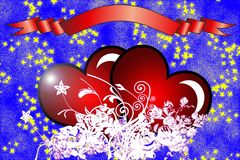 Valentine day card Stock Images