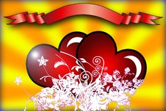 Valentine day card Royalty Free Stock Photography