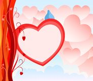 Valentine Day Card with abstract heart background Stock Images