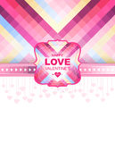 Valentine day card and background.Vector template. Of invitation Royalty Free Stock Image