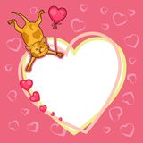 Valentine day card with cat Stock Image