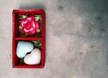 Valentine day card. Dramatic valentine day card Stock Image