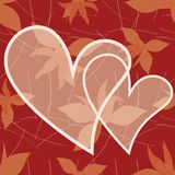 Valentine day card with floral background royalty free illustration