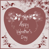 Valentine day card - floral collection Stock Photos